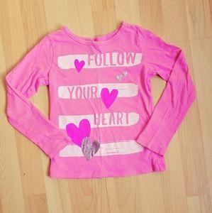 "🎄3/$20 Oshkosh Girl | ""Follow Your Heart"" Tee"